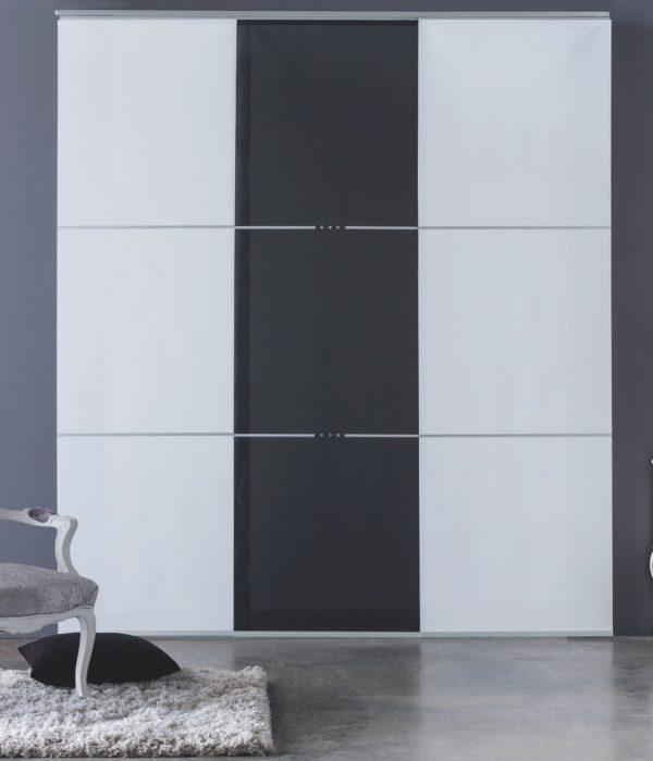 Panel japonés 2 colores con incrustación de cristal